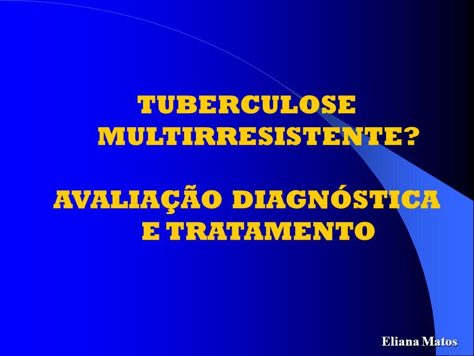 TUBERCULOSE MULTIRRESISTENTE Esquema de Tratamento Recomendado pelo MS Duração: 18 meses Duração: 18 meses Amicacina (500 mg a 1.000 mg) 5 X/semana - 2 meses 2 X/semana- 10 meses Ofloxacina (400 a 800 mg/dia) – 18 meses Terizidona (500 a 750 mg/dia – 18 meses Etambutol (800 A 1200 mg/dia) – 18 meses Quinto fármaco.