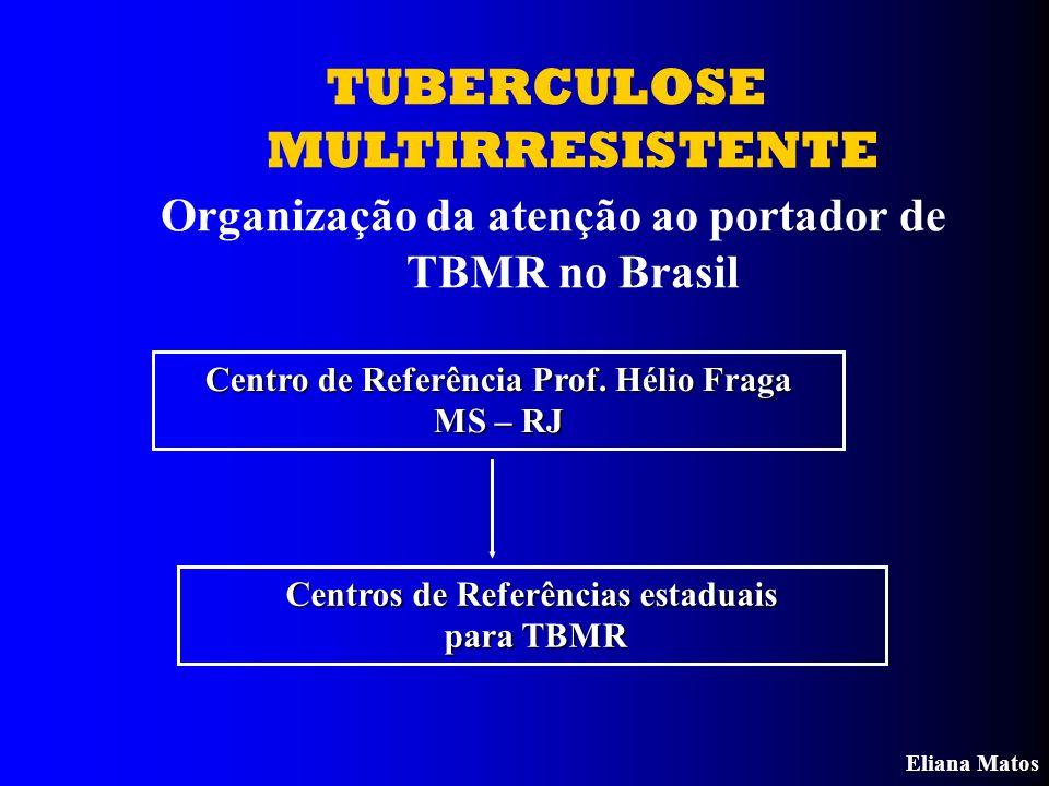 TUBERCULOSE MULTIRRESISTENTE Organização da atenção ao portador de TBMR no Brasil Centro de Referência Prof. Hélio Fraga MS – RJ Centros de Referência