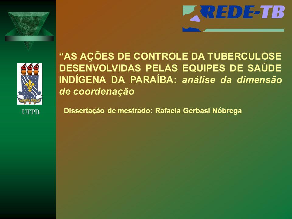 AS AÇÕES DE CONTROLE DA TUBERCULOSE DESENVOLVIDAS PELAS EQUIPES DE SAÚDE INDÍGENA DA PARAÍBA: análise da dimensão de coordenação Dissertação de mestra