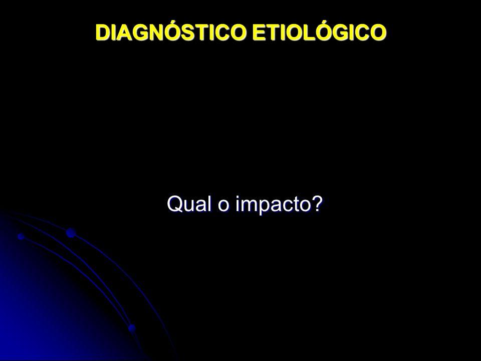 DIAGNÓSTICO ETIOLÓGICO Qual o impacto?