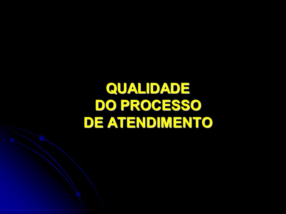 QUALIDADE DO PROCESSO DE ATENDIMENTO