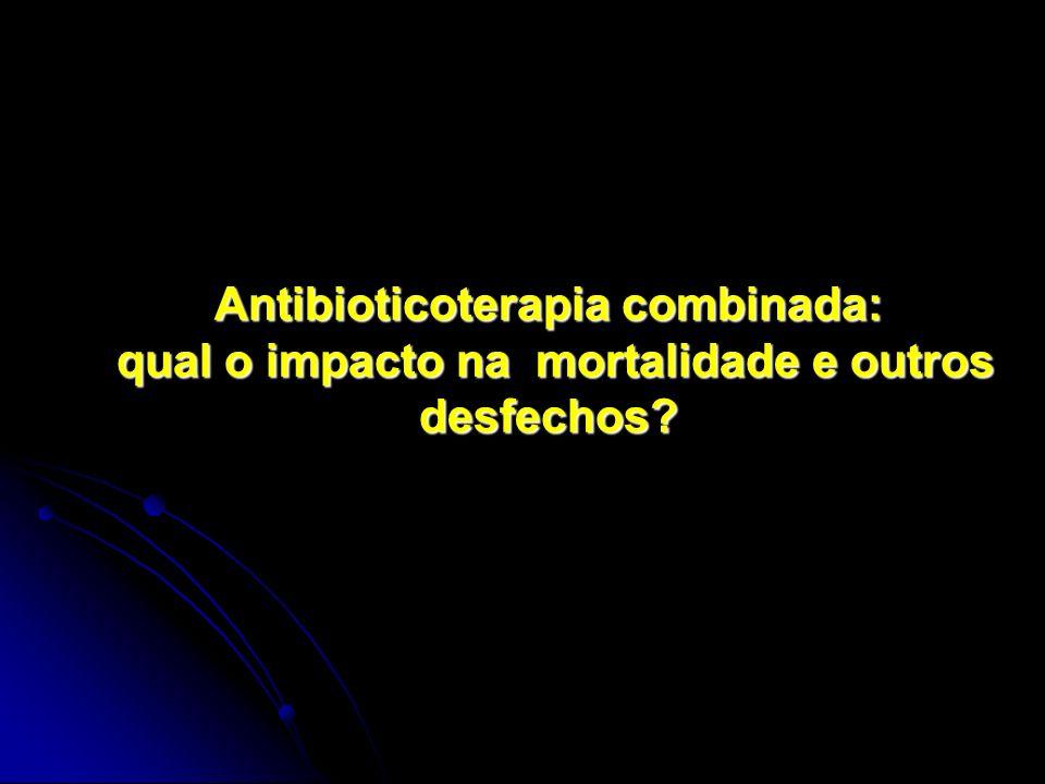 Antibioticoterapia combinada: qual o impacto na mortalidade e outros desfechos?