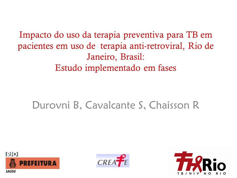 Impacto do uso da terapia preventiva para TB em pacientes em uso de terapia anti-retroviral, Rio de Janeiro, Brasil: Estudo implementado em fases Duro