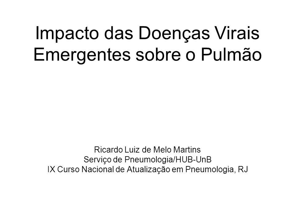 Impacto das Doenças Virais Emergentes sobre o Pulmão Ricardo Luiz de Melo Martins Serviço de Pneumologia/HUB-UnB IX Curso Nacional de Atualização em P
