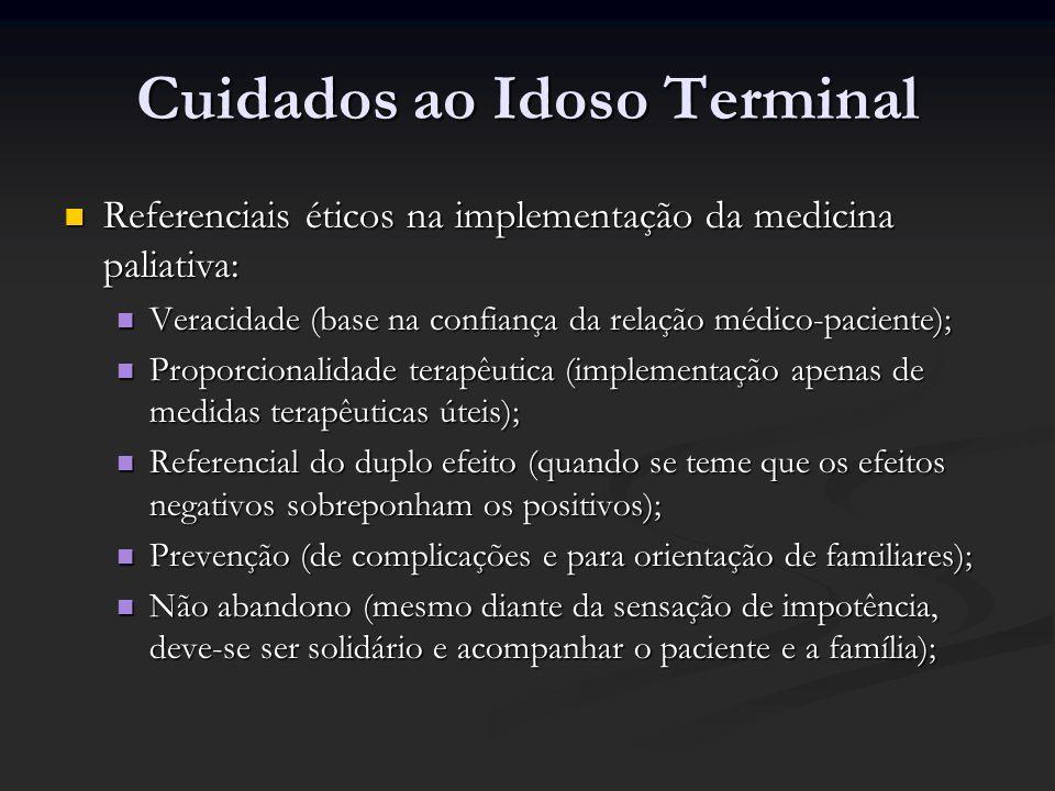 Cuidados ao Idoso Terminal Referenciais éticos na implementação da medicina paliativa: Referenciais éticos na implementação da medicina paliativa: Ver