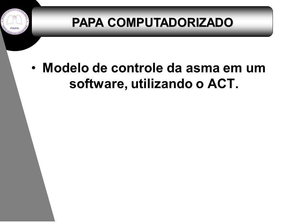 PAPA COMPUTADORIZADO Modelo de controle da asma em um software, utilizando o ACT.