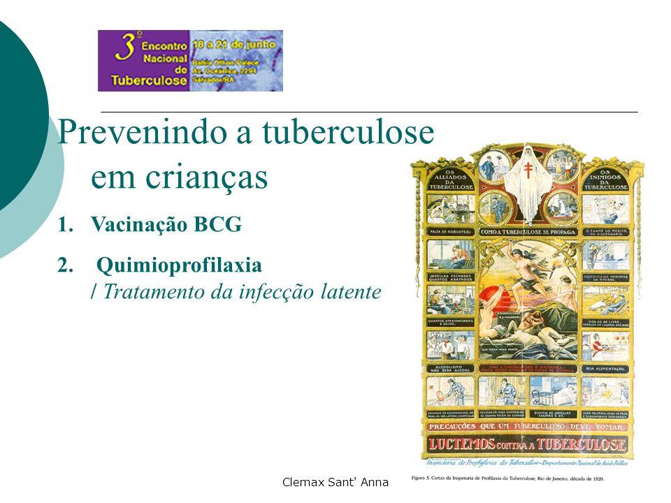 Clemax Sant' Anna Prevenindo a tuberculose em crianças 1.Vacinação BCG 2. Quimioprofilaxia / Tratamento da infecção latente