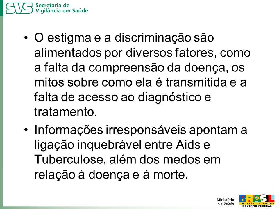 O estigma e a discriminação são alimentados por diversos fatores, como a falta da compreensão da doença, os mitos sobre como ela é transmitida e a fal