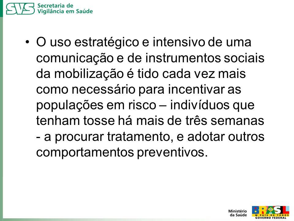 O uso estratégico e intensivo de uma comunicação e de instrumentos sociais da mobilização é tido cada vez mais como necessário para incentivar as popu