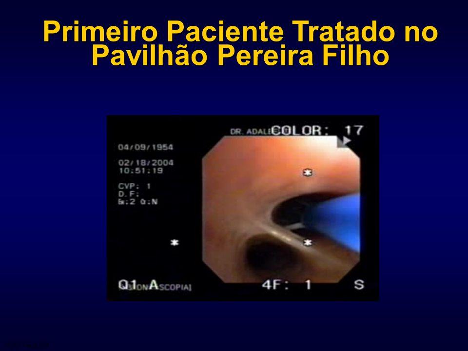Primeiro Paciente Tratado no Pavilhão Pereira Filho 04-015 March 2004