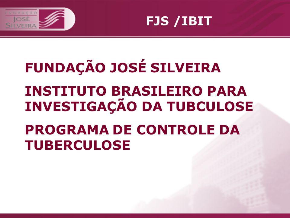 FJS /IBIT Unidade matricial da FJS Criada pelo Professor José Silveira em 21 de fevereiro de 1937, para investigação sistematizada de todos os problemas relacionados com a tuberculose.