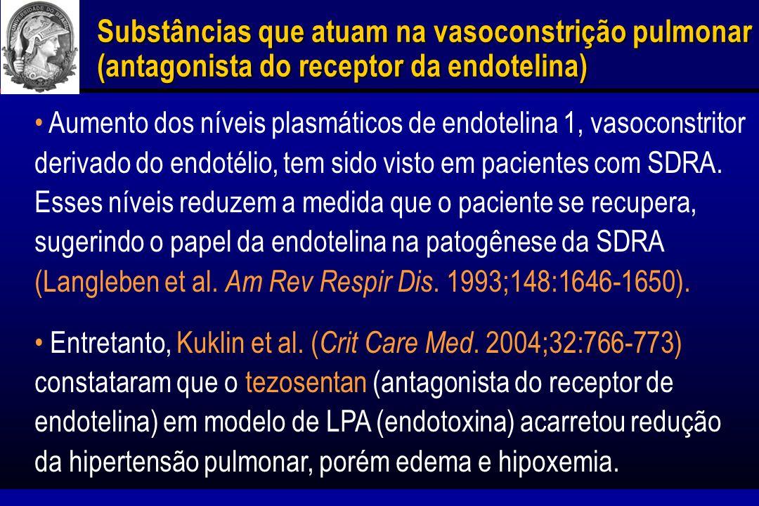Anticorpos contra citocinas pró-inflamatórias Níveis de citocinas no BAL estão relacionados ao prognóstico do paciente com SDRA.