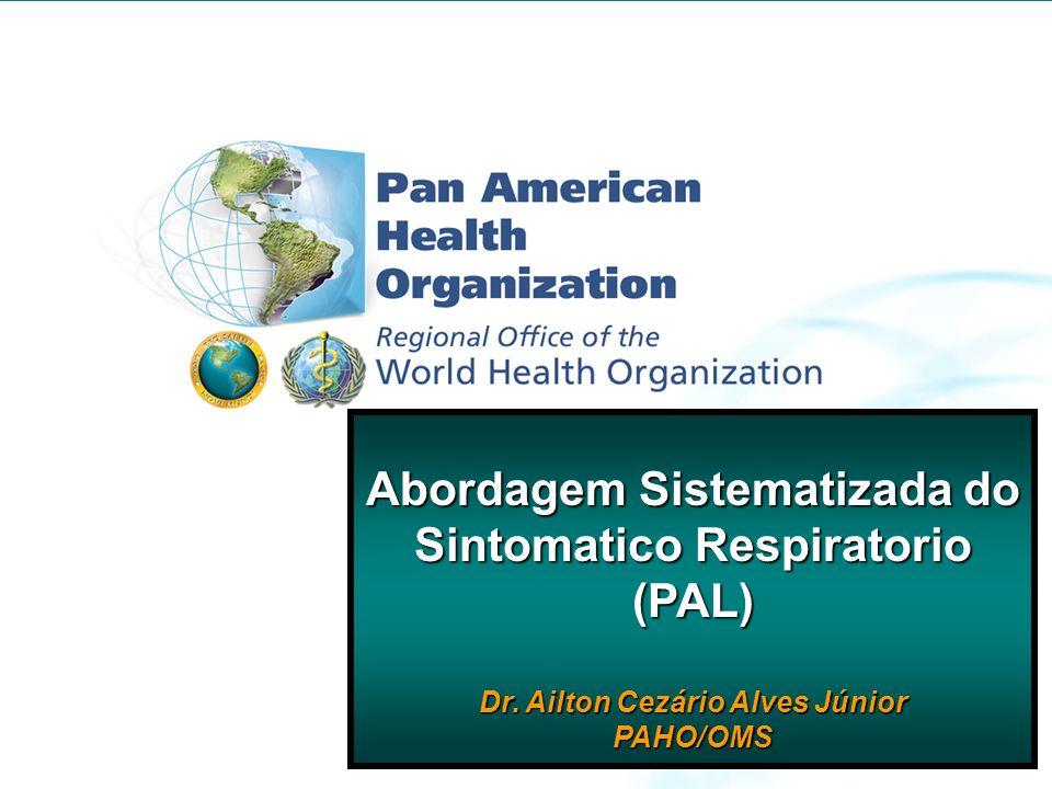 Mirtha del Granado PAHO/WHO Edmonton, Canada March, 27 th, 2008 Abordagem Sistematizada do Sintomatico Respiratorio (PAL) Dr. Ailton Cezário Alves Jún