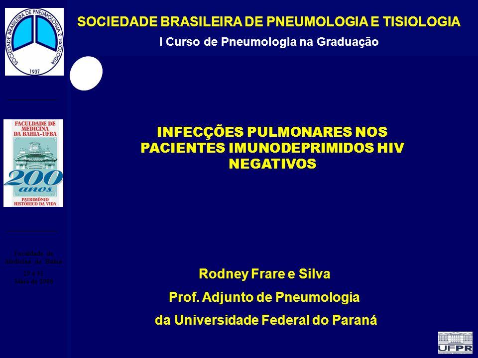 Infecção Pulmonar no Paciente Imunocomprometido I Curso de Pneumologia na Graduação Faculdade de Medicina da Bahia 29 a 31 Maio de 2008 INFECÇÕES PULM