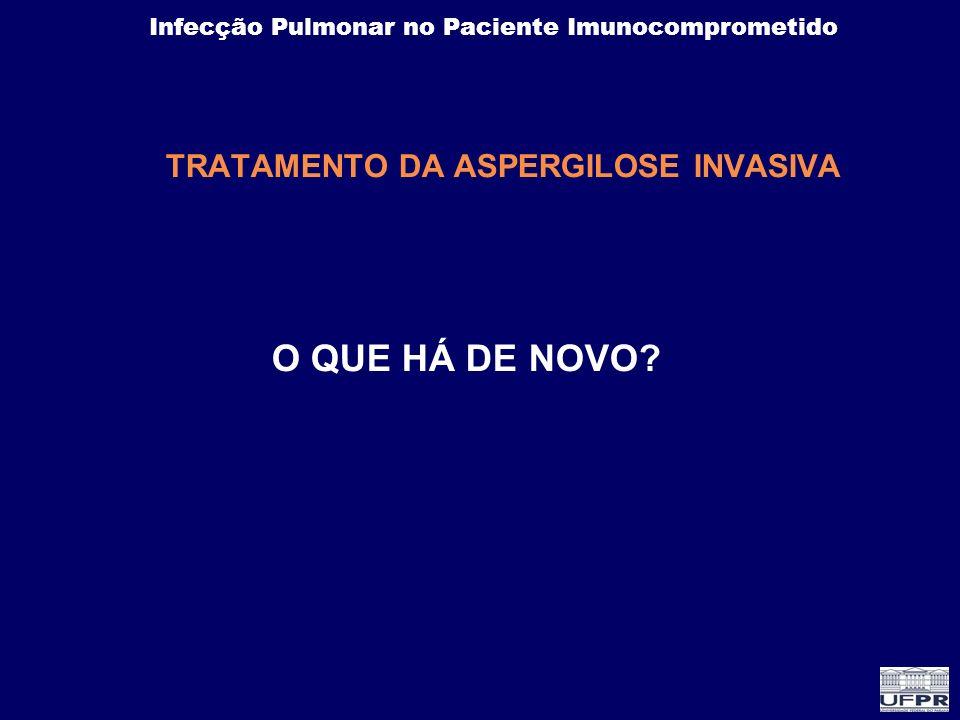 Infecção Pulmonar no Paciente Imunocomprometido TRATAMENTO DA ASPERGILOSE INVASIVA O QUE HÁ DE NOVO?