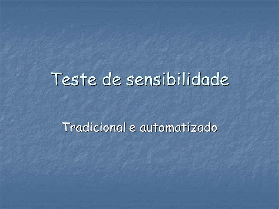 Teste de sensibilidade Tradicional e automatizado