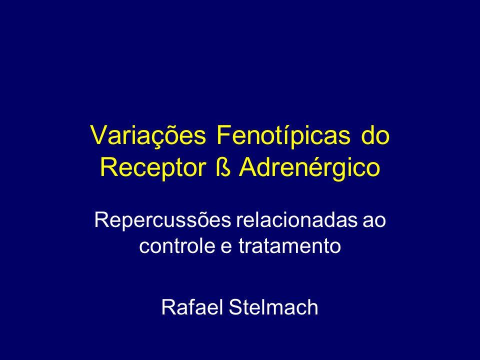 Variações Fenotípicas do Receptor ß Adrenérgico Repercussões relacionadas ao controle e tratamento Rafael Stelmach