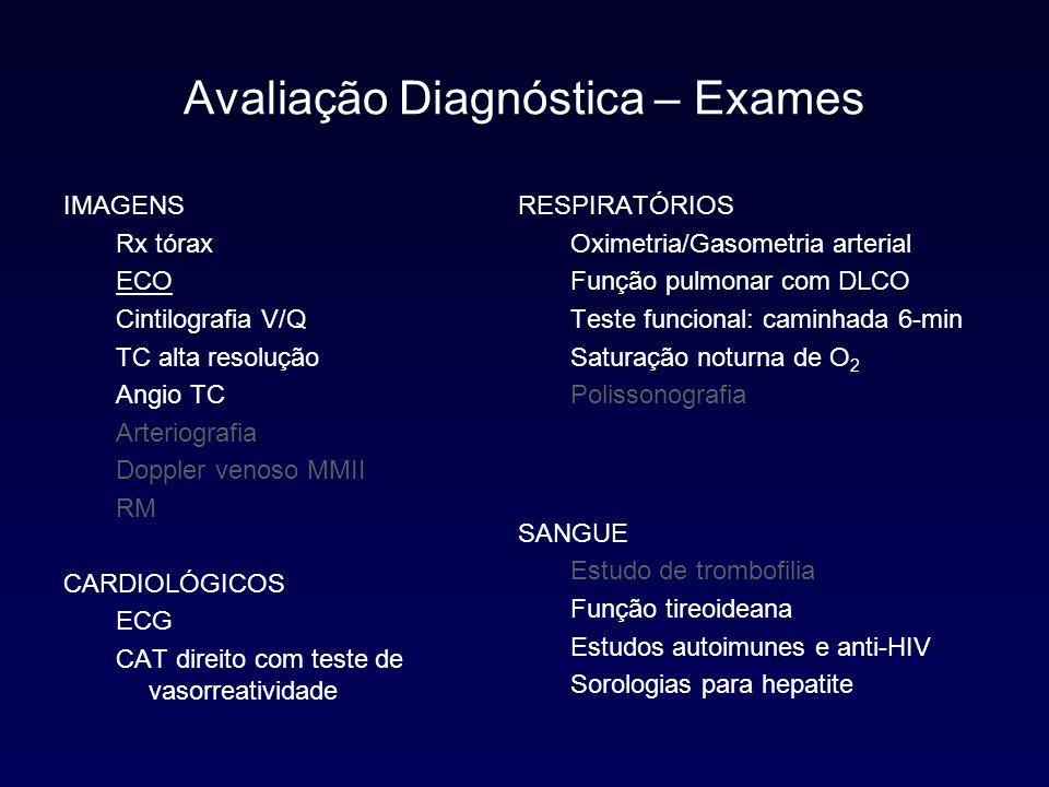 Sintomas Screening Incidental Exame Físico Rx, ECG, ECO Detecção Caracterização Suspeição