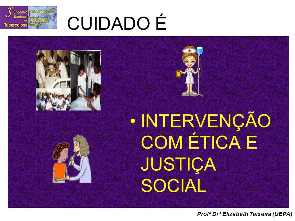 Profª Drª Elizabeth Teixeira (UEPA) CUIDADO É INTERVENÇÃO COM ÉTICA E JUSTIÇA SOCIAL