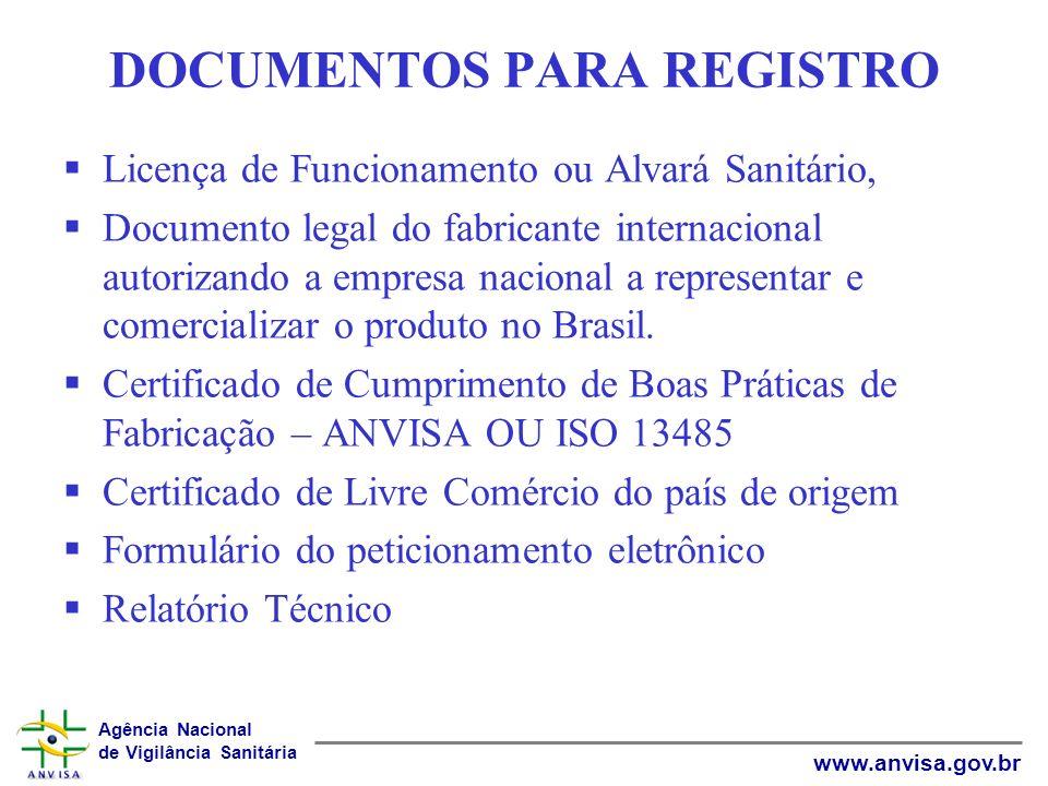 Agência Nacional de Vigilância Sanitária www.anvisa.gov.br Mônica Cristina A.