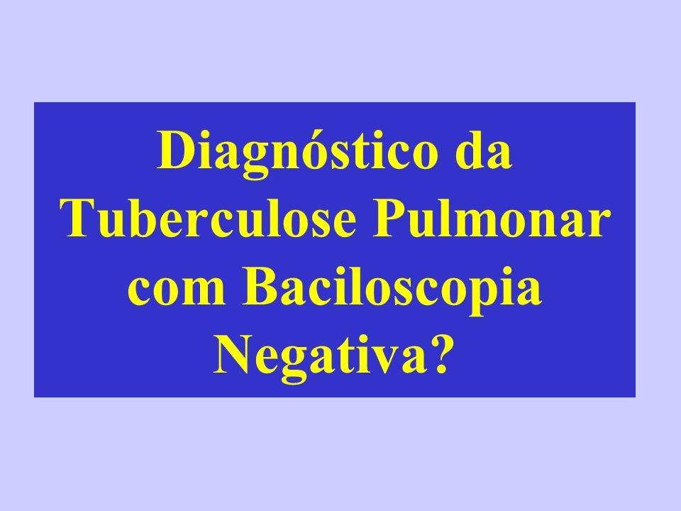 Diagnóstico da Tuberculose Pulmonar com Baciloscopia Negativa?