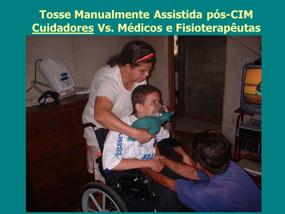 Tosse Manualmente Assistida pós-CIM Cuidadores Vs. Médicos e Fisioterapêutas