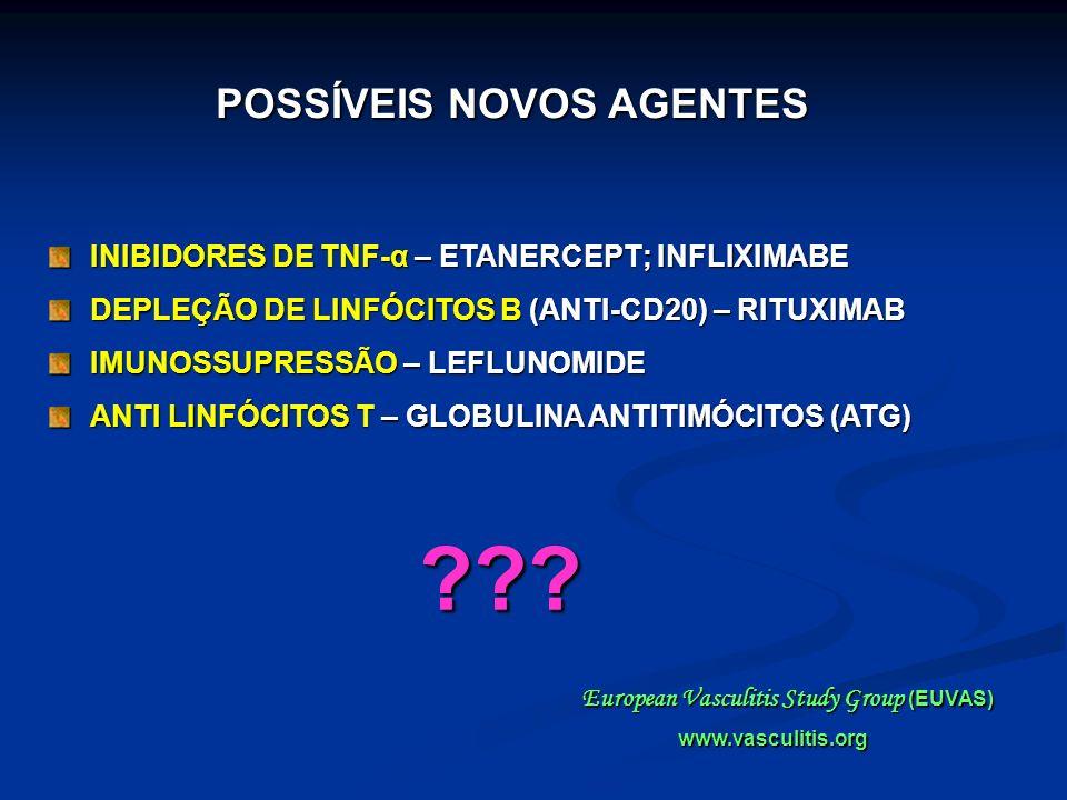 INIBIDORES DE TNF-α – ETANERCEPT; INFLIXIMABE DEPLEÇÃO DE LINFÓCITOS B (ANTI-CD20) – RITUXIMAB IMUNOSSUPRESSÃO – LEFLUNOMIDE ANTI LINFÓCITOS T – GLOBU