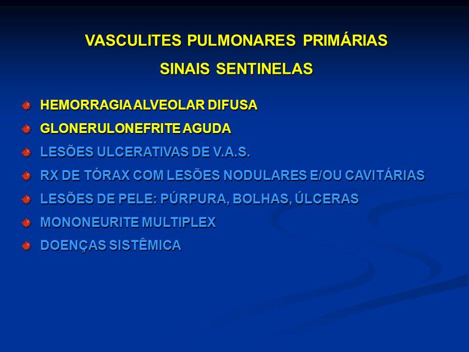 O prognóstico das vasculites pulmonares é primariamente determinado pelo diagnóstico rápido e pela instituição imediata da terapia Obrigada !
