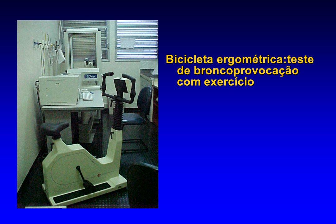 Bicicleta ergométrica:teste de broncoprovocação com exercício