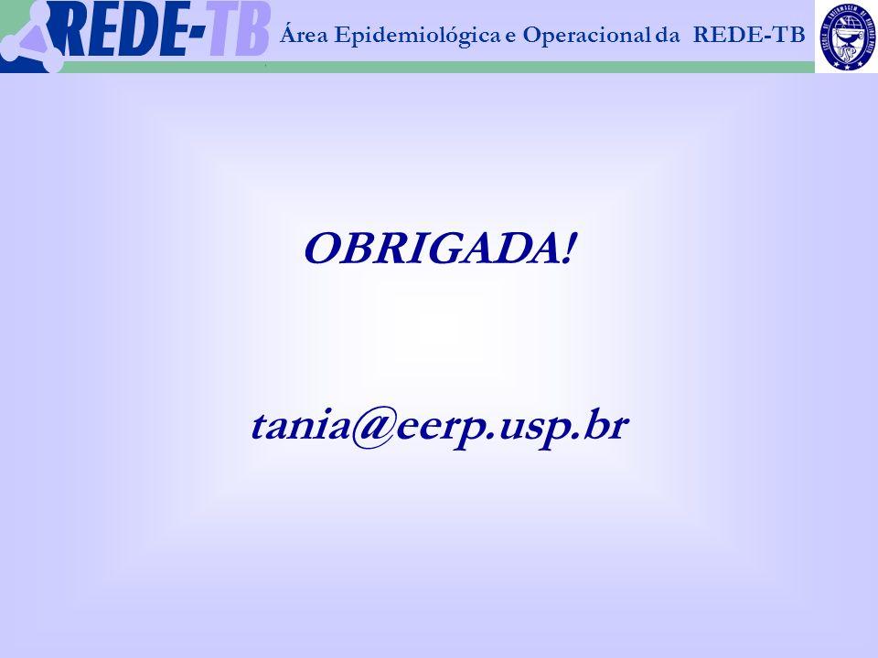 1 Área Epidemiológica e Operacional da REDE-TB OBRIGADA! tania@eerp.usp.br