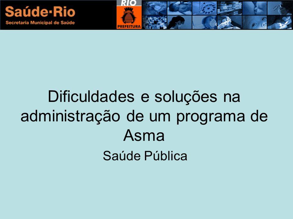 Dificuldades e soluções na administração de um programa de Asma Saúde Pública