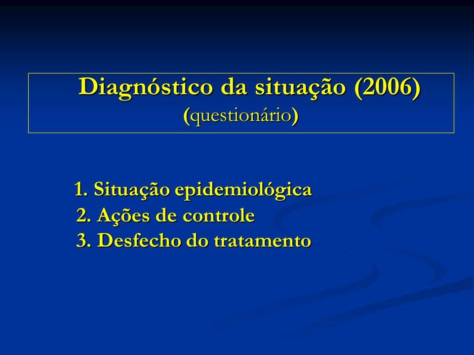 1. Situação epidemiológica 2. Ações de controle 3. Desfecho do tratamento 1. Situação epidemiológica 2. Ações de controle 3. Desfecho do tratamento Di