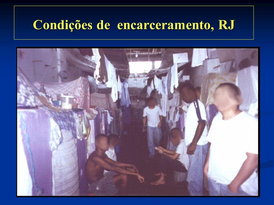 Condições de encarceramento, RJ Condições de encarceramento, RJ