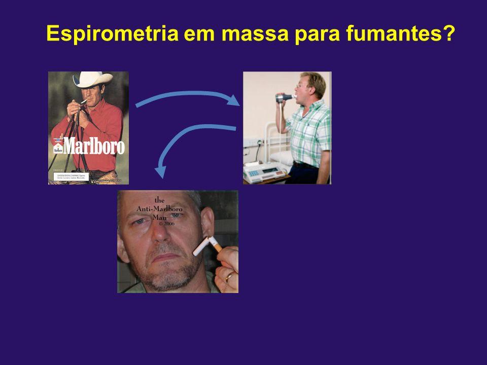 Espirometria em massa para fumantes?