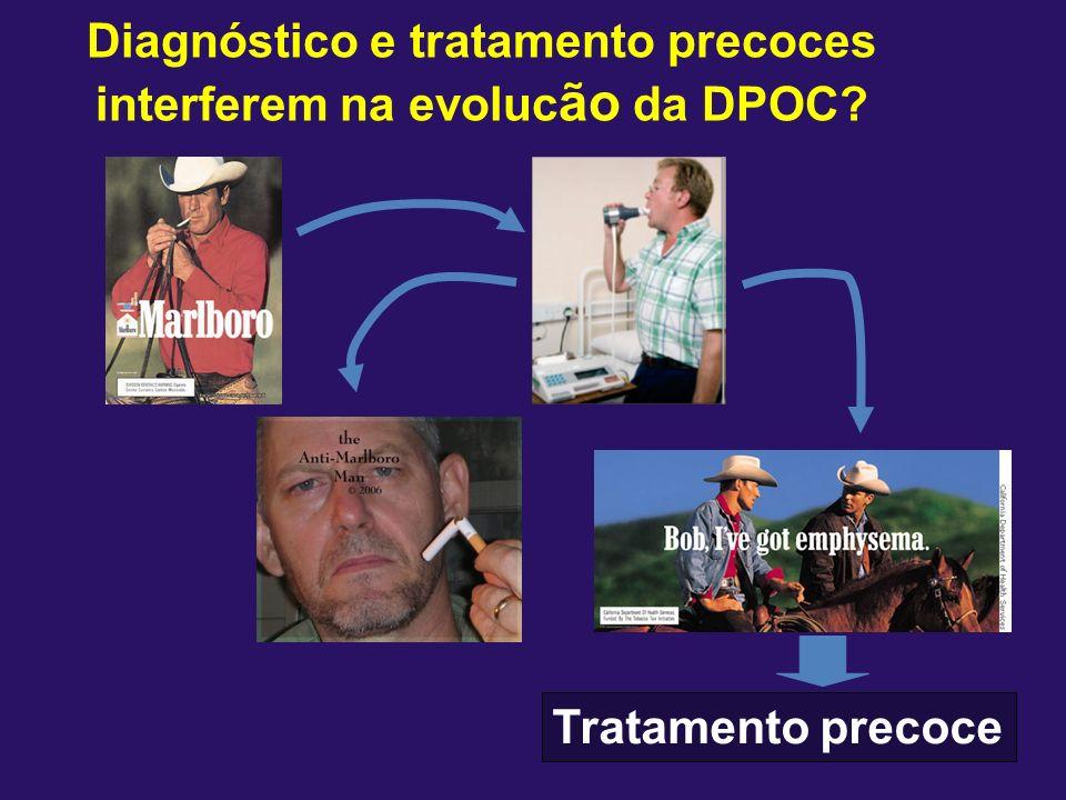 Cessação de tabagismo muda a história natural The Lung Health Study.