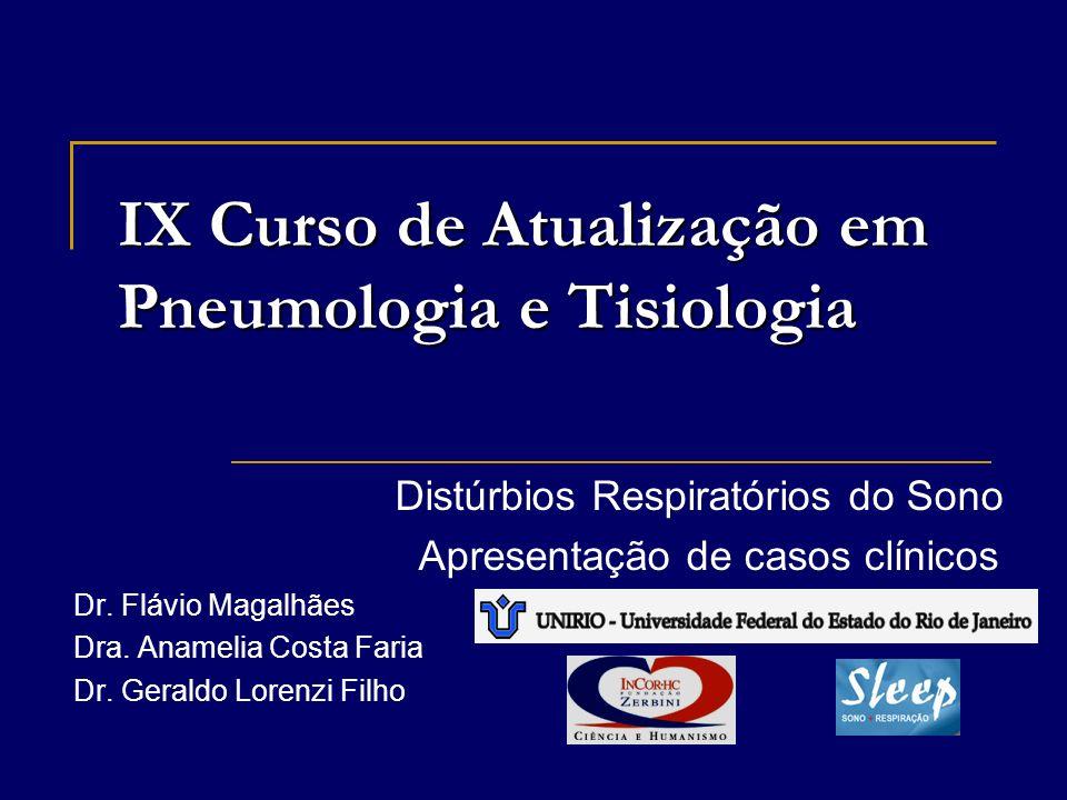 IX Curso de Atualização em Pneumologia e Tisiologia Distúrbios Respiratórios do Sono Apresentação de casos clínicos Dr.