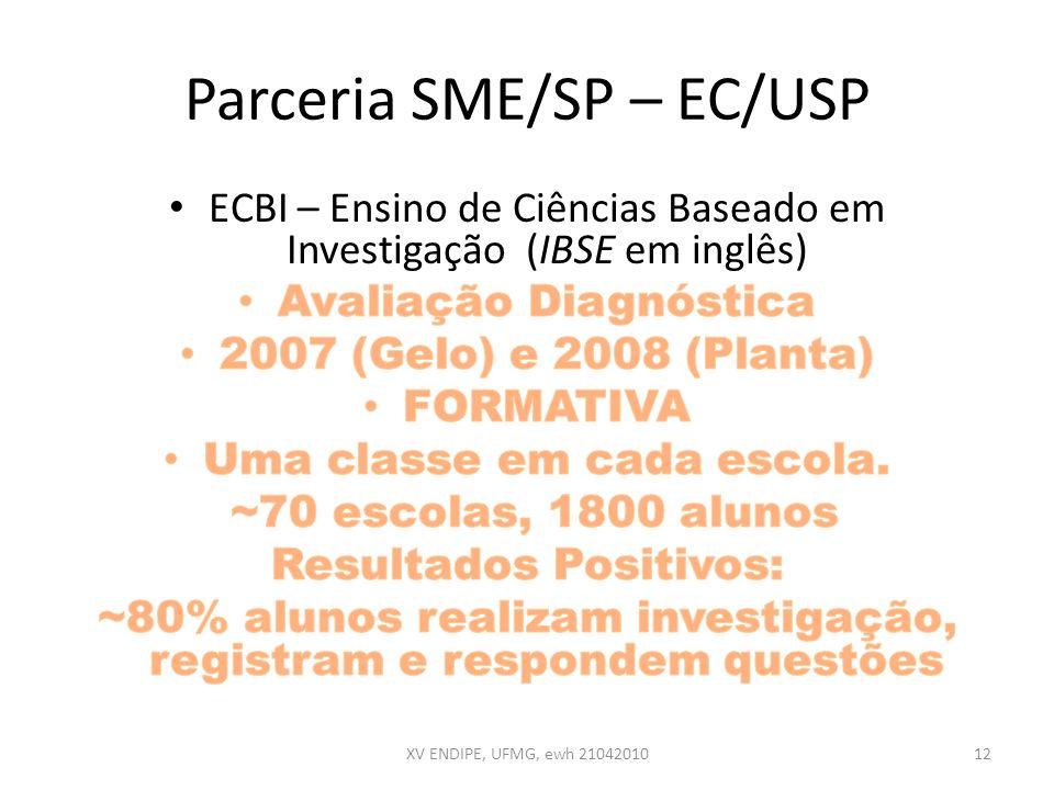 Parceria SME/SP – EC/USP XV ENDIPE, UFMG, ewh 2104201012