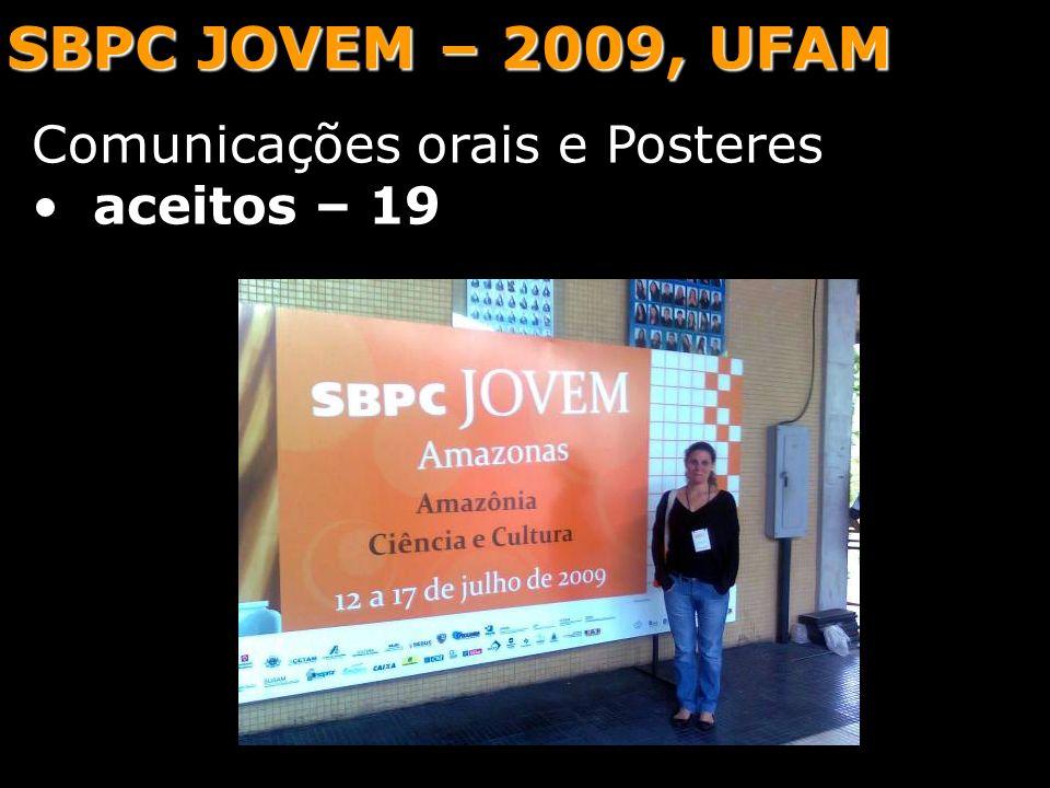 SBPC JOVEM – 2009, UFAM Comunicações orais e Posteres aceitos – 19