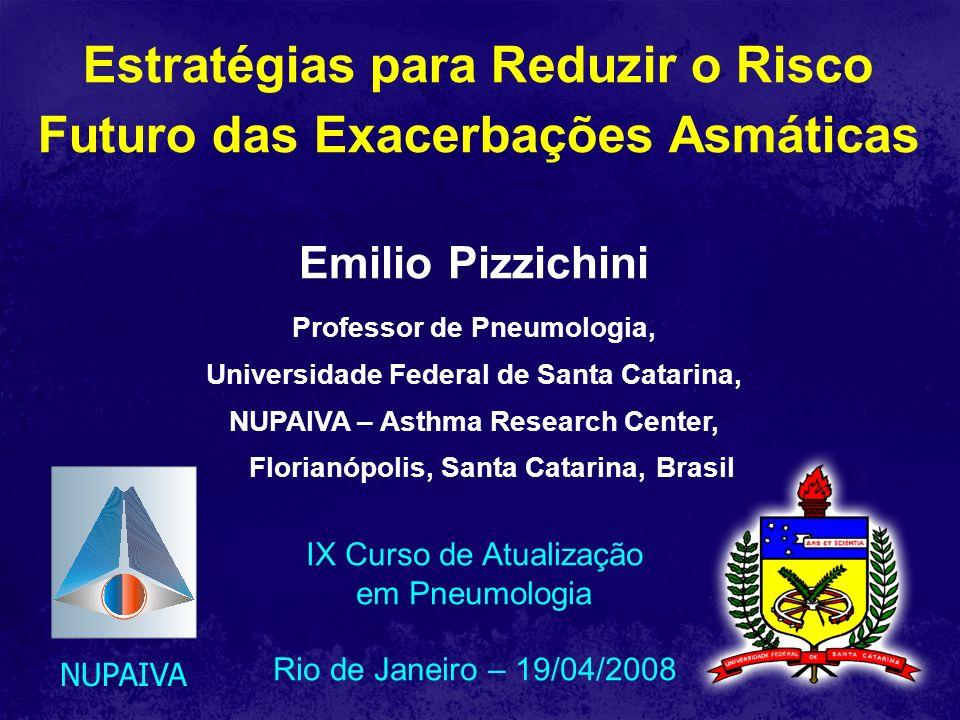 Estratégias para Reduzir o Risco Futuro das Exacerbações Asmáticas NUPAIVA Emilio Pizzichini Professor de Pneumologia, Universidade Federal de Santa C