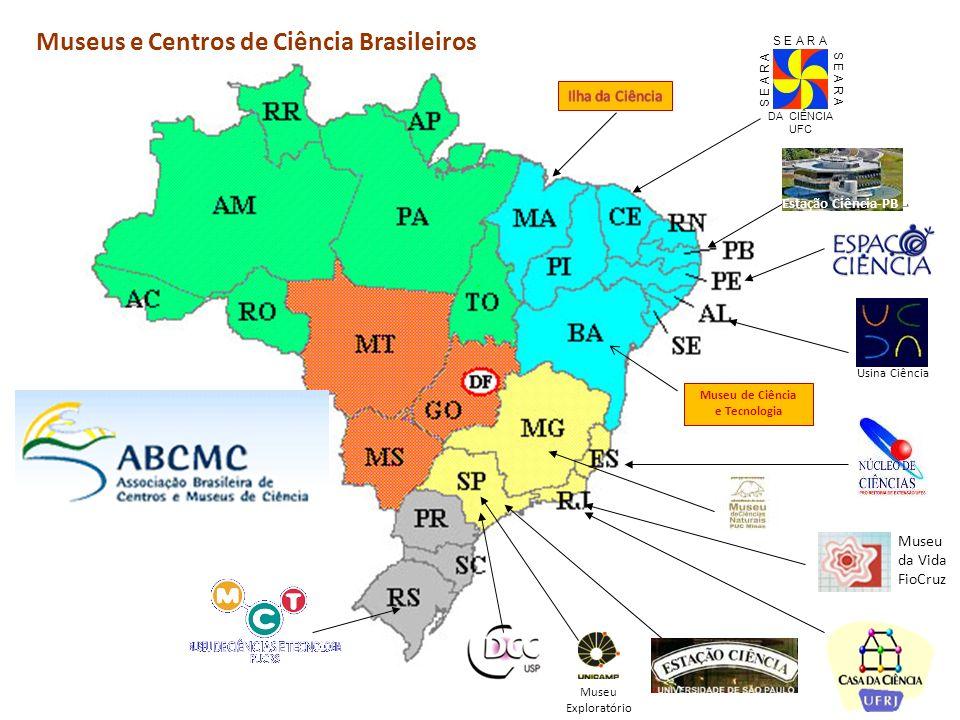 DA CIÊNCIA UFC S E A R A Usina Ciência Museu da Vida FioCruz Museus e Centros de Ciência Brasileiros Museu de Ciência e Tecnologia Estação Ciência-PB