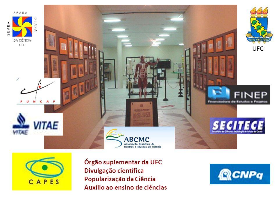 Órgão suplementar da UFC Divulgação científica Popularização da Ciência Auxílio ao ensino de ciências S E A R A DA CIÊNCIA UFC