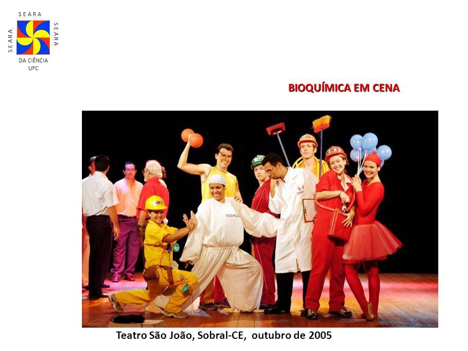 Teatro São João, Sobral-CE, outubro de 2005 S E A R A DA CIÊNCIA UFC BIOQUÍMICA EM CENA
