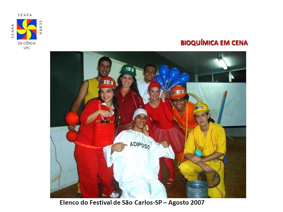 S E A R A DA CIÊNCIA UFC BIOQUÍMICA EM CENA Elenco do Festival de São Carlos-SP – Agosto 2007