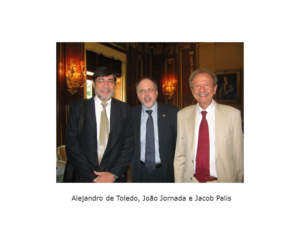 Alejandro de Toledo, João Jornada e Jacob Palis