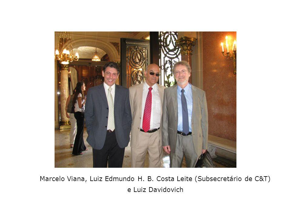 Rosália Otero, Walter Zin, Iván Izquierdo e Luiz Eugênio Araújo de Moraes Mello