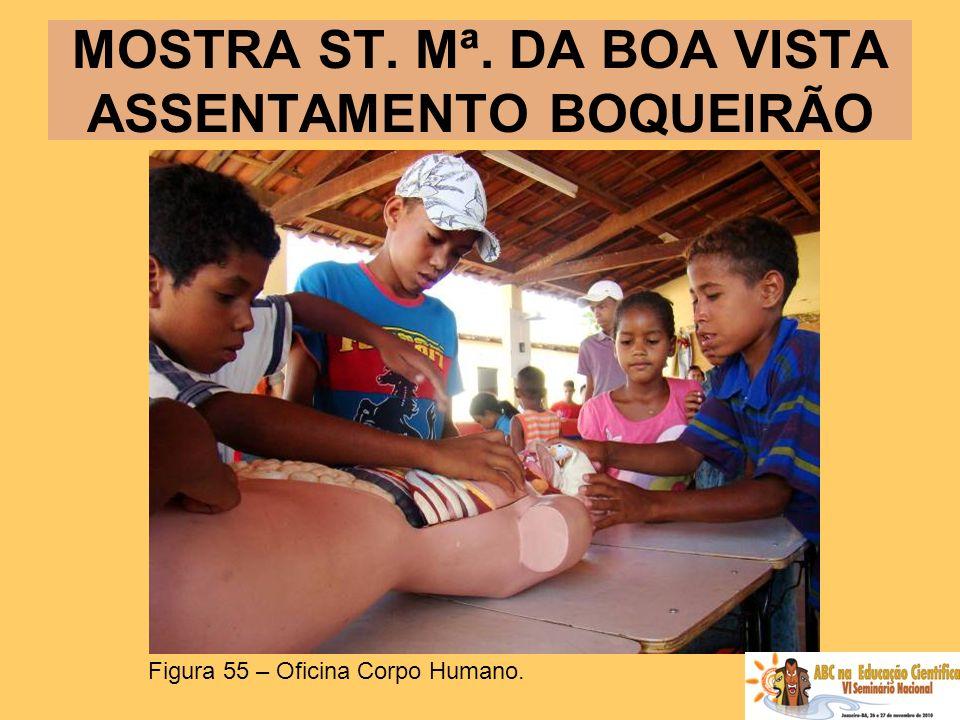 MOSTRA ST. Mª. DA BOA VISTA ASSENTAMENTO BOQUEIRÃO Figura 55 – Oficina Corpo Humano.