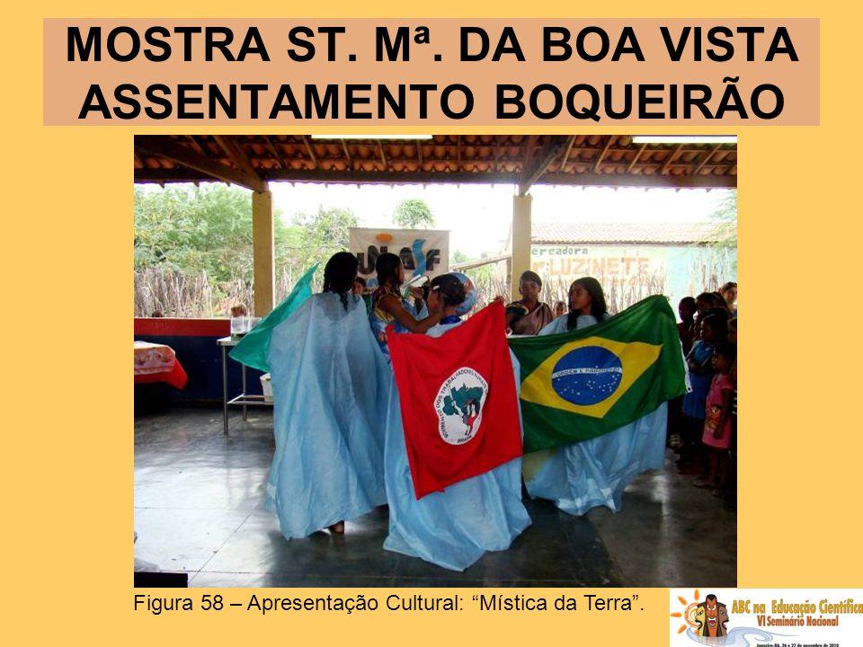 MOSTRA ST. Mª. DA BOA VISTA ASSENTAMENTO BOQUEIRÃO Figura 58 – Apresentação Cultural: Mística da Terra.