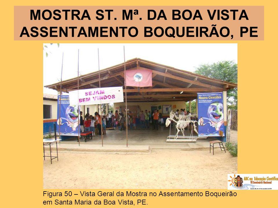 MOSTRA ST. Mª. DA BOA VISTA ASSENTAMENTO BOQUEIRÃO, PE Figura 50 – Vista Geral da Mostra no Assentamento Boqueirão em Santa Maria da Boa Vista, PE.