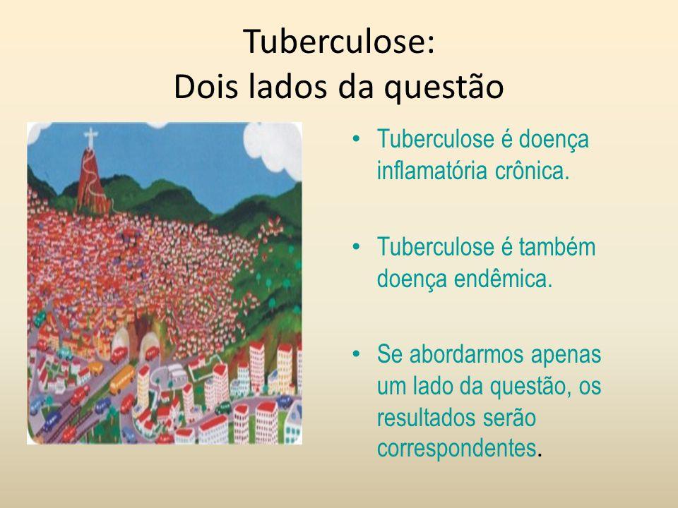 Tuberculose: Dois lados da questão Tuberculose é doença inflamatória crônica. Tuberculose é também doença endêmica. Se abordarmos apenas um lado da qu