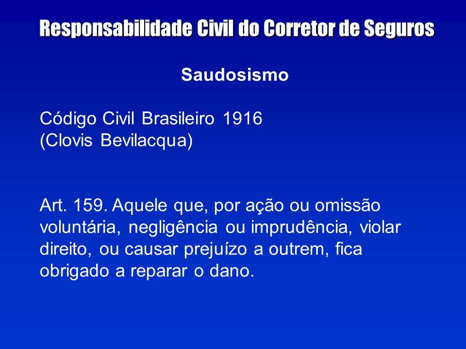 Saudosismo Código Civil Brasileiro 1916 (Clovis Bevilacqua) Art.
